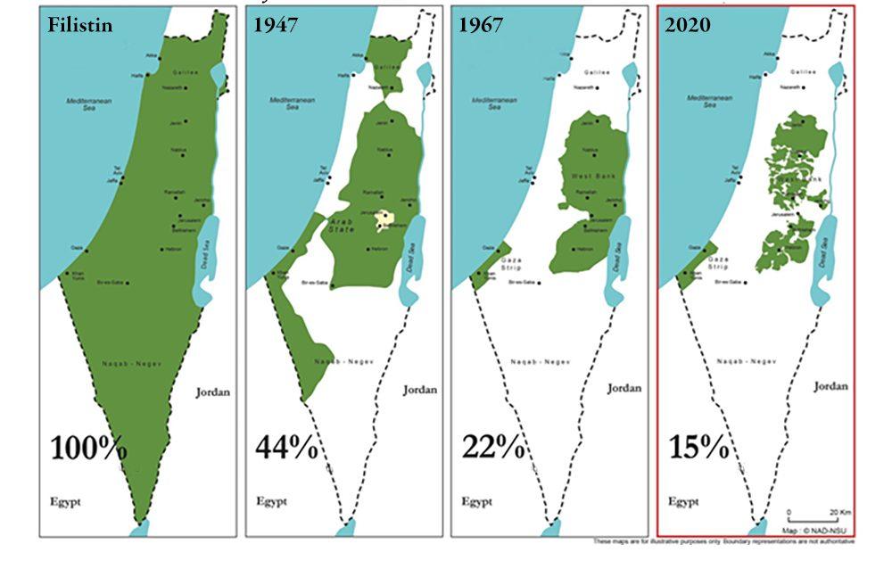 Haritalarla Trump'ın Filistin'i yok etme planı